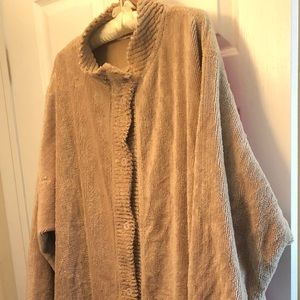 Other - NWOT Long chenille robe button front